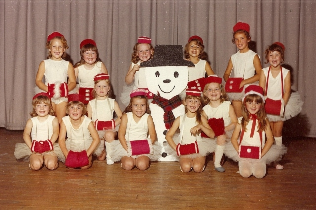 An early dance photo - that's me in the back row on the far right!